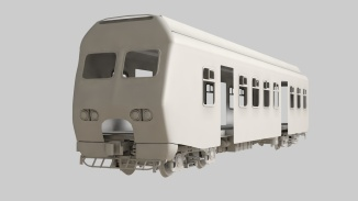 Train modeling in Cinema 4D