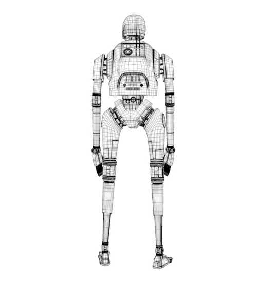 3D K-2SO with Sketchfab – all the process – Mickael's Works