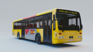 3D bus lowpoly